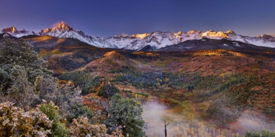 morning mist mount sneffels san juan mountains ridgway colorado high-definition HD professional landscape photography
