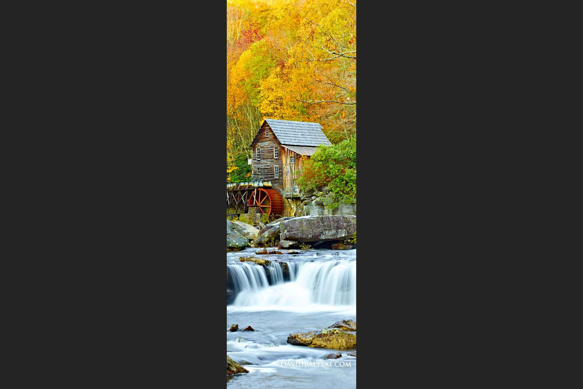 Babcock State Park Glade Creek Grist Mill West Virginia panoramic high definition hd phtography