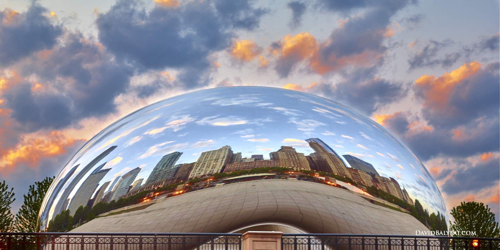 Chicago Cloud Gate Bean Millenium Park high-definition HD professional landscape photography