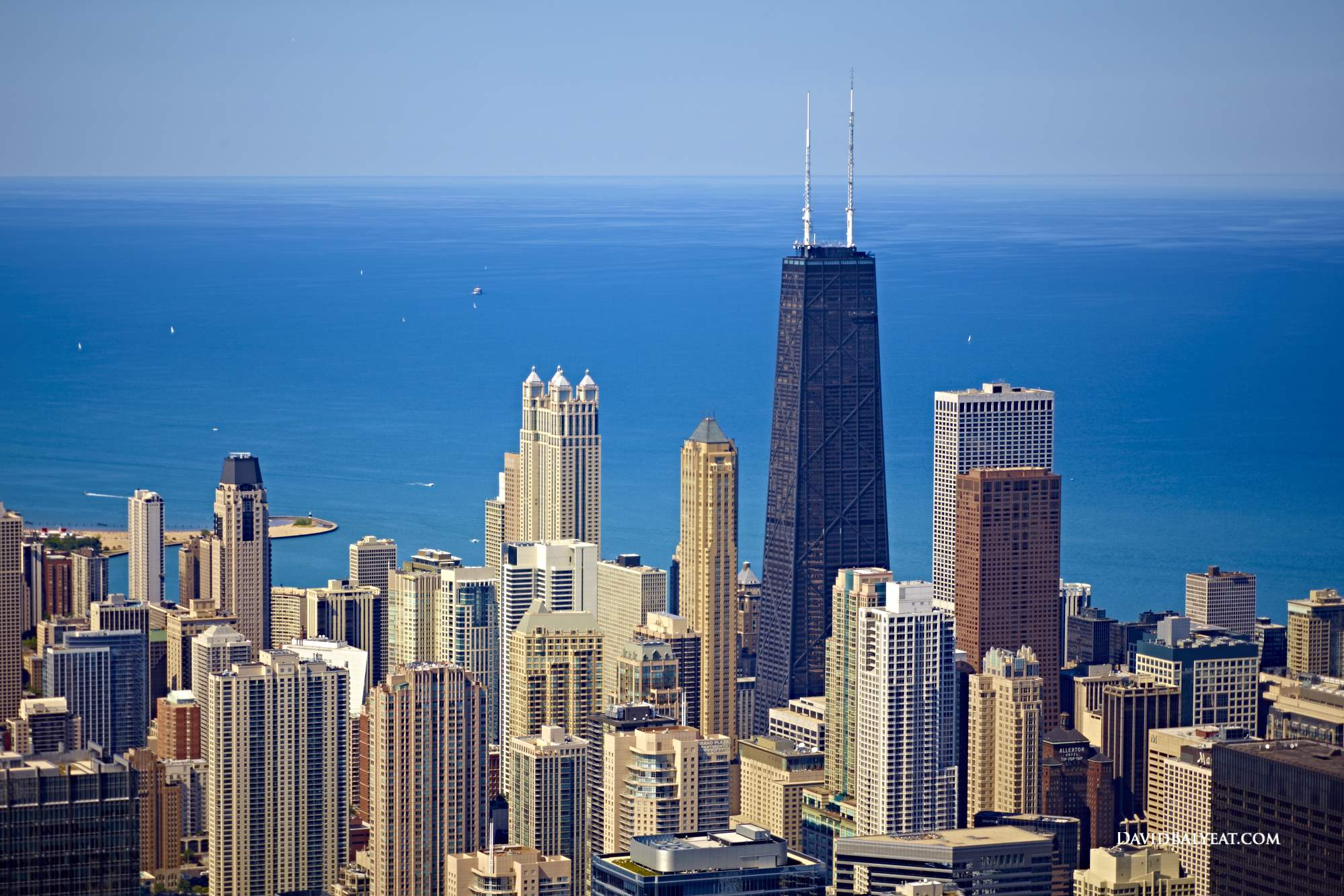 Chicago skyline Lake Michigan horizon high-definition HD professional landscape photography