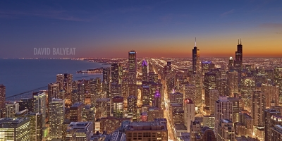 Chicago skyline lake Michigan sunset Willis Sears Trump Tower high-defintion HD professional landscape photography
