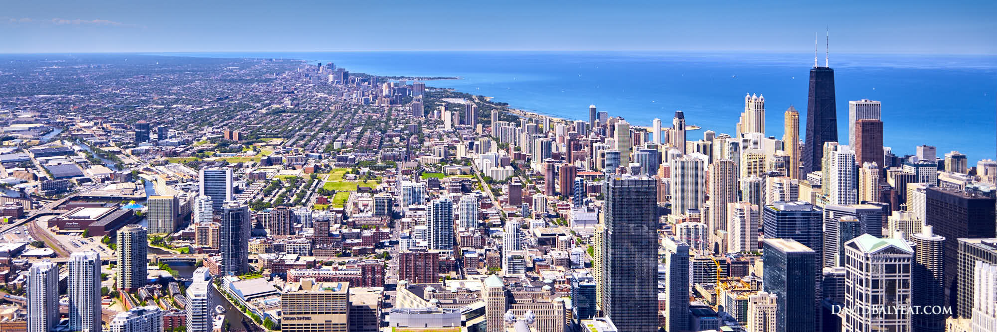 Chicago skyline panoramic hancock tower high-definition HD professional landscape photography