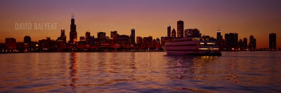 Chicago sunset yacht skyline Lake Michigan high-definition HD professional landscape photography
