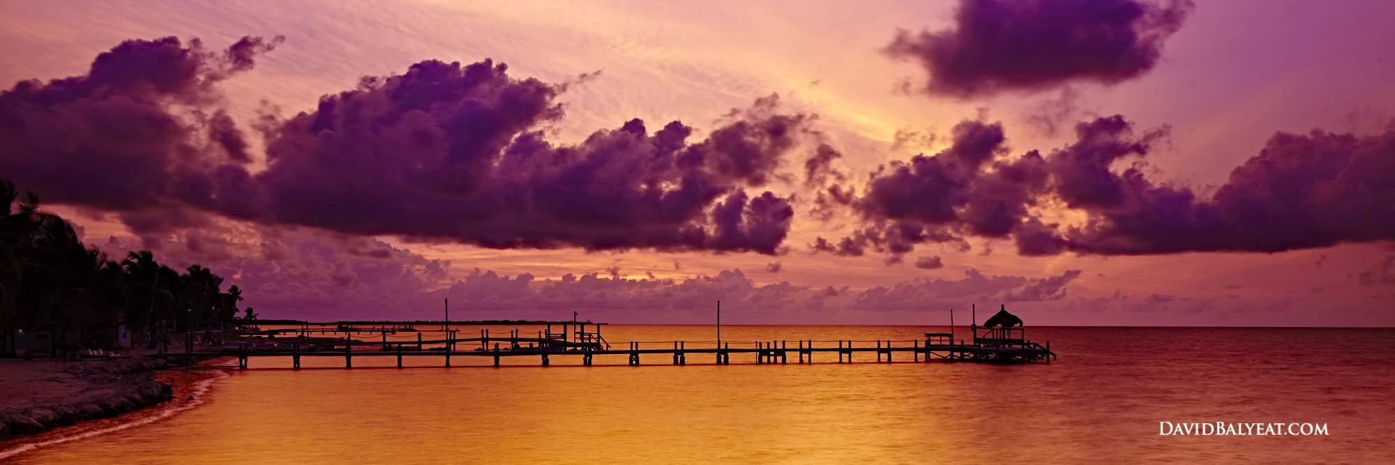 Florida Keys sunrise jetty panoramic high definition HD photography