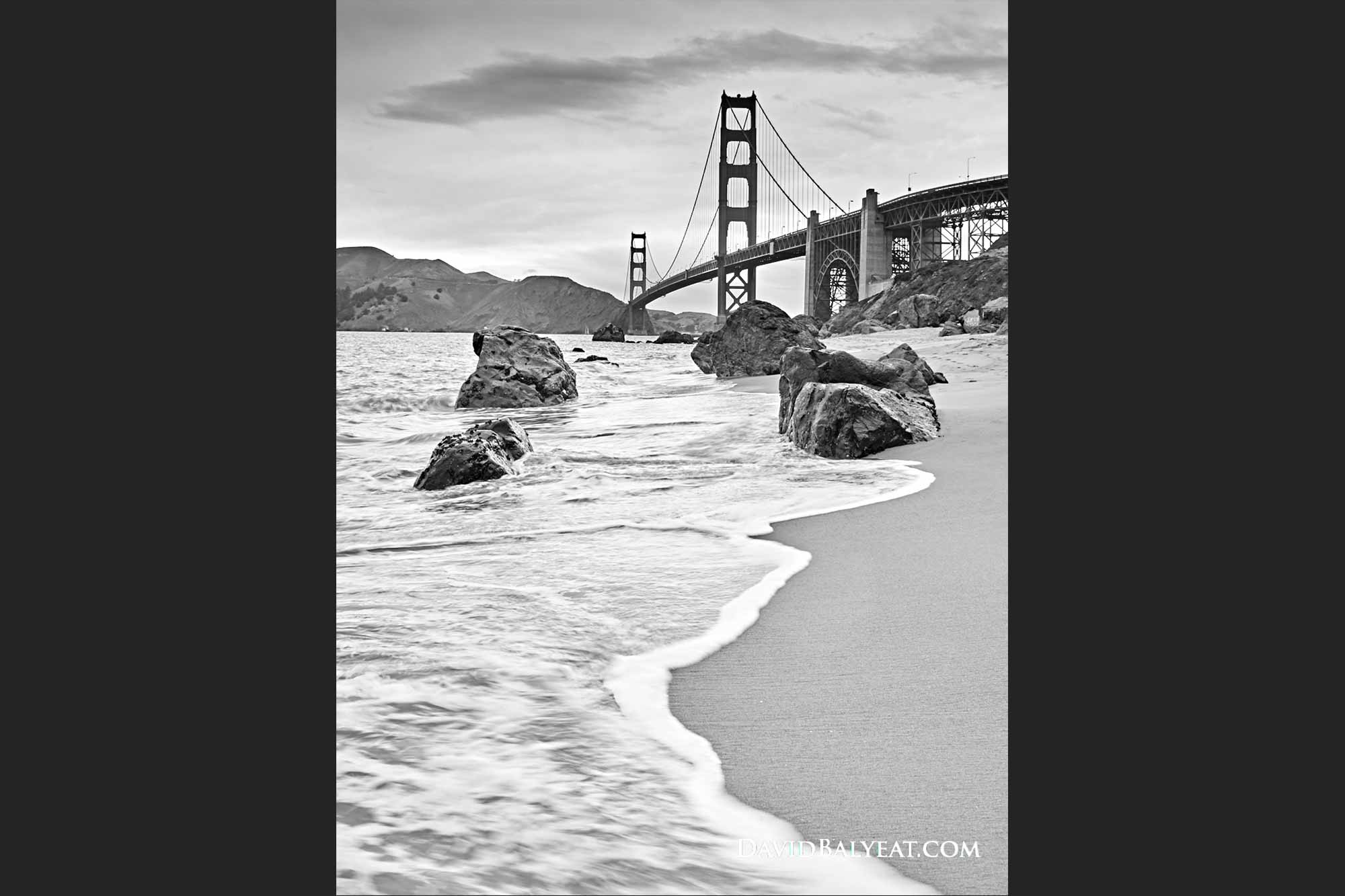 Golden gate bridge san francisco baker beach high definition hd professional landscape photography
