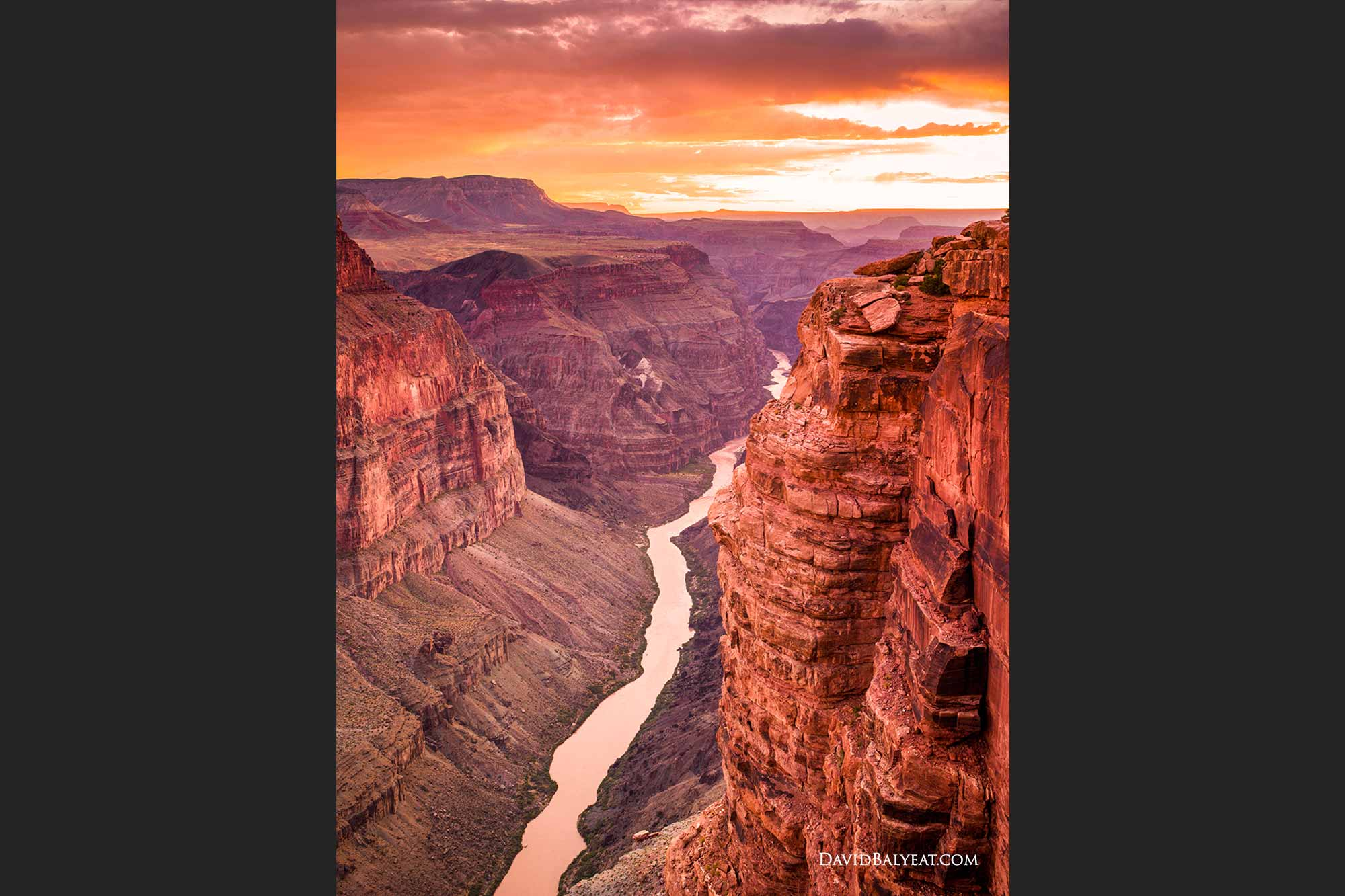 Grand Canyon sunset Toroweap North Rim high-defintion HD professional landscape photography