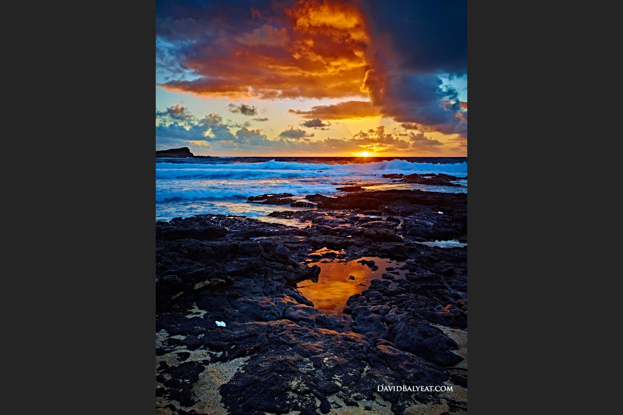 Hawaii sunrise Oahu Makapu'u Beach Park tide pools high definition HD professional landscape fine art photography