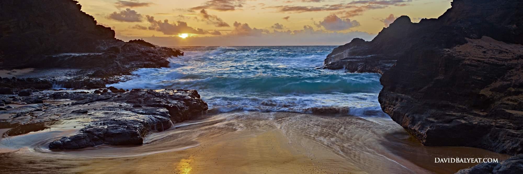 Hawaii sunrise panoramic beach ocean high definition HD professional landscape photography