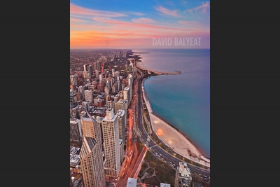 Lake Shore Drive North Chicago sunset Lake Michigan high-definition HD professional landscape photography