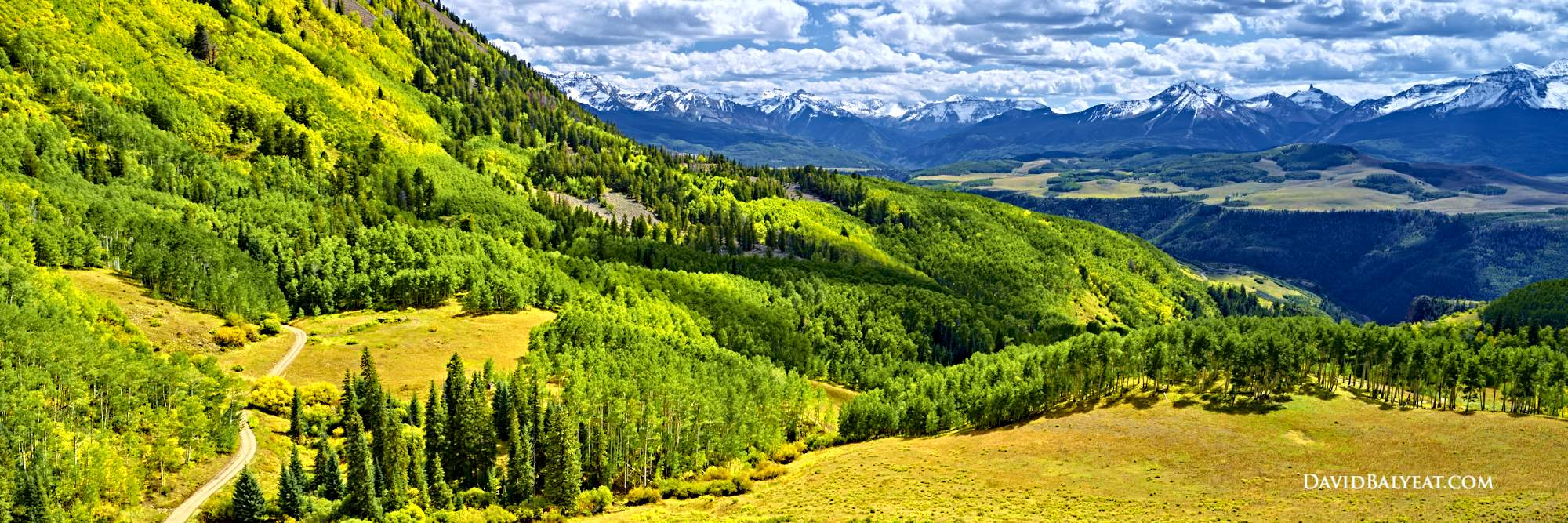 Last Dollar Road Telluride Colorado autumn aspen trees high definition panoramic HD photography