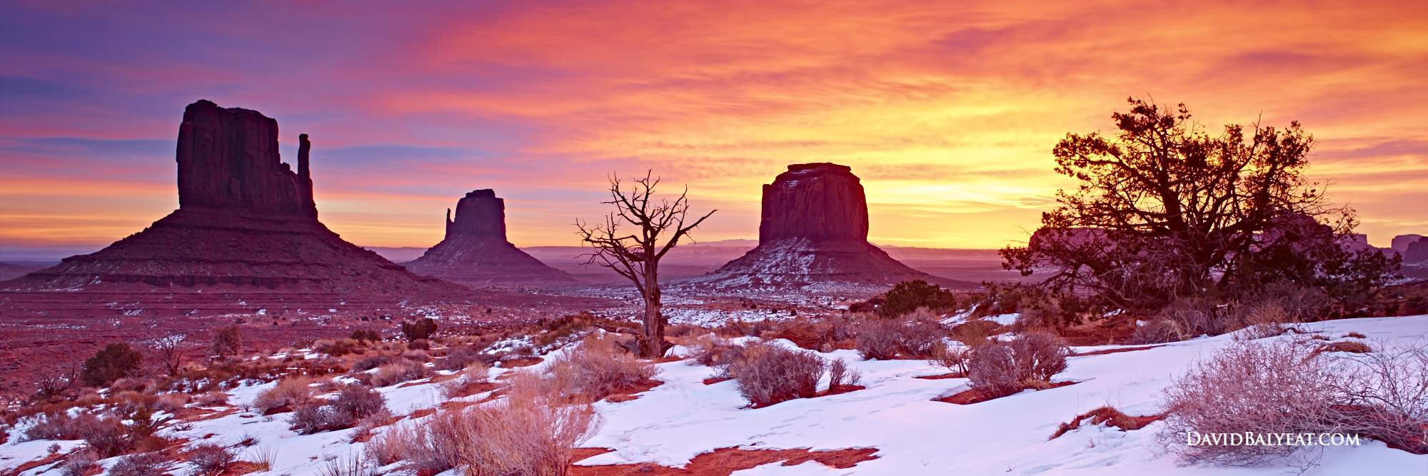 Monument Valley sunrise panoramic snow high definition HD professional landscape photography