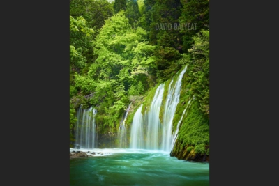 Mossbrae Falls Northern California vertical high-definition HD professional landscape photography