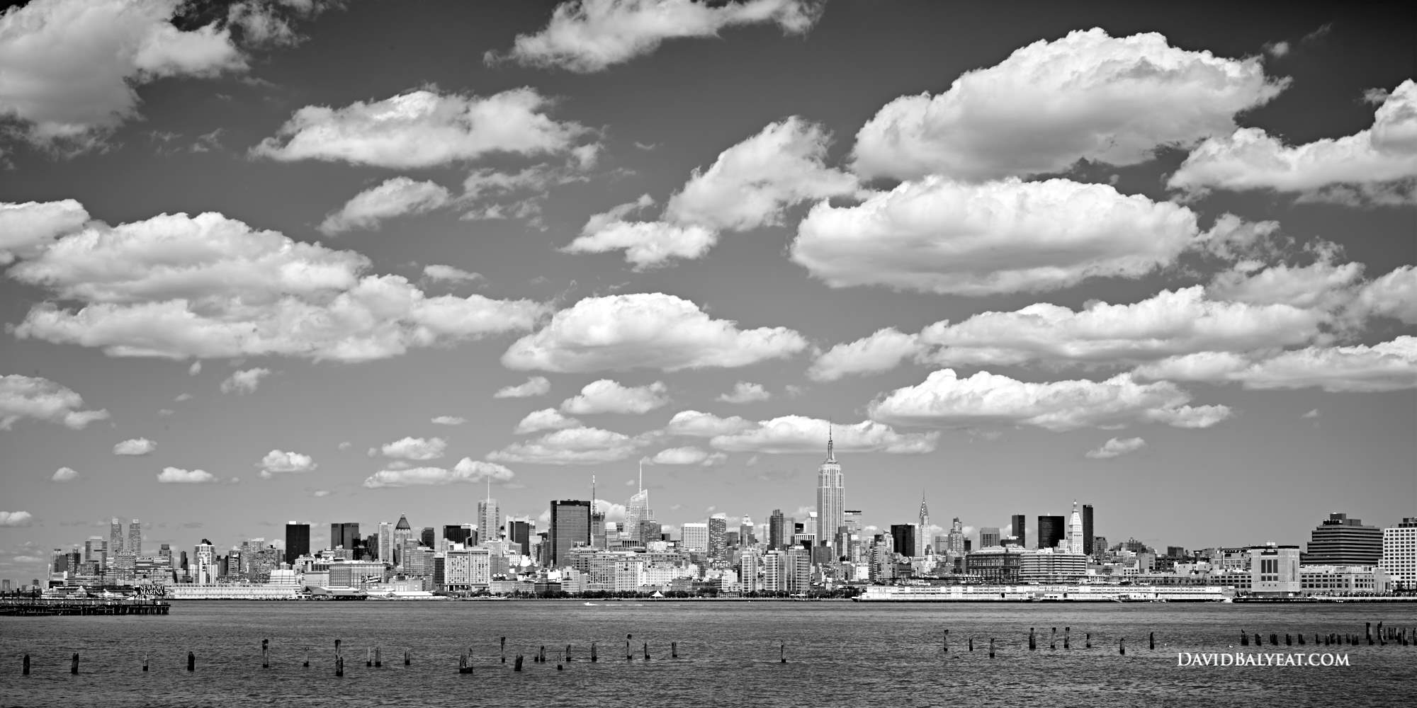 New York City Midtown Manhattan black and white photography high definition HD