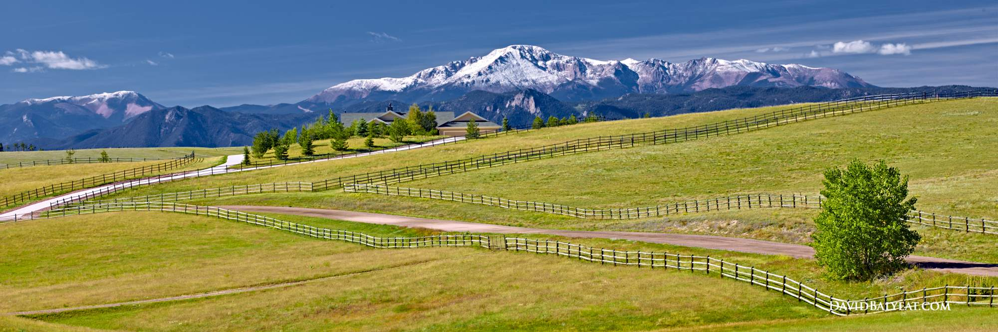 Pikes Peak Colorado Springs view high definition HD professional photography