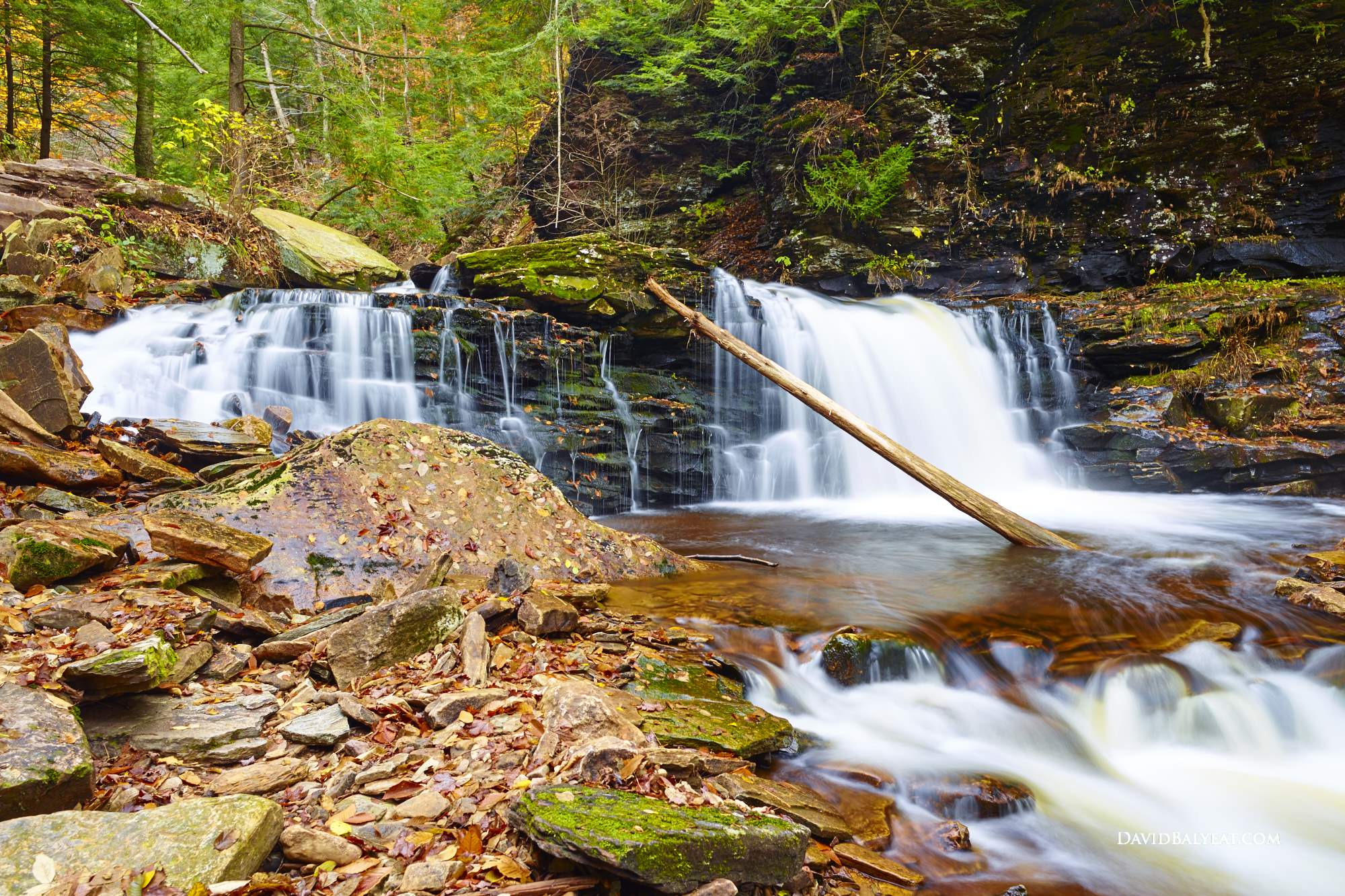 ricketts glen state park waterfalls fall foliage autumn high