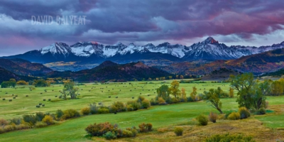 Ridgway Colorado mountain ranch sunset