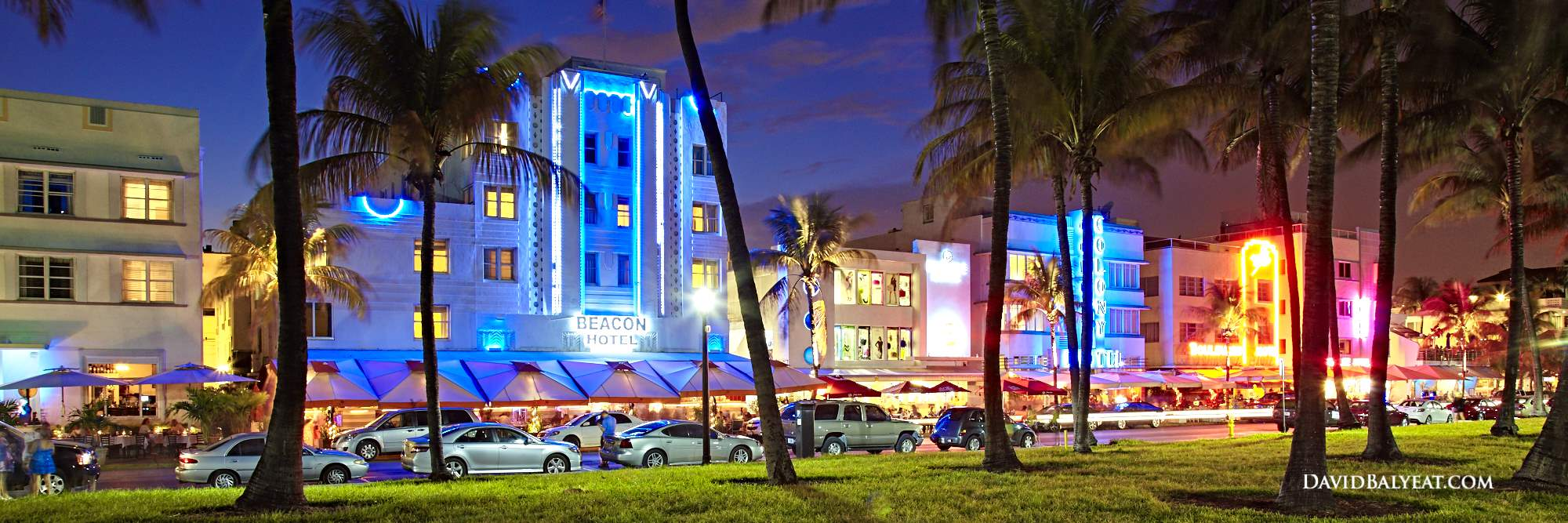 South Beach Sunset Panoramic Ocean Drive Miami Florida High Definition Hd Professional Photography