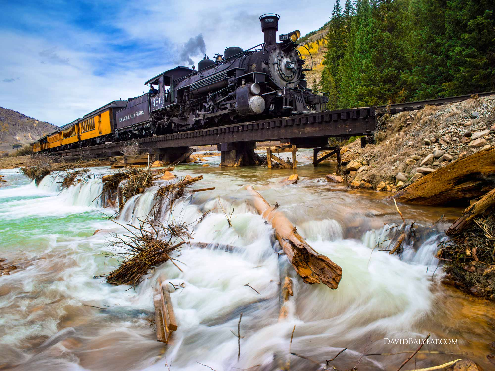 Train Silverton Durango Narrow Gauge Railroad Colorado high-definition HD professional landscape photography