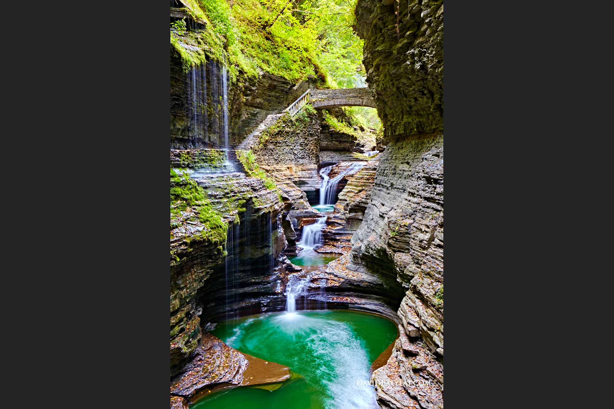 Watkins Glen State Park exotic waterfalls New York high-defintion HD professional photography